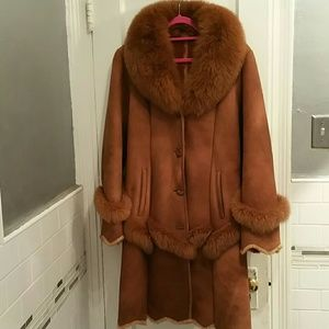 Jackets & Blazers - Genuine leather and  fox fur jacket s